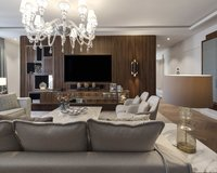 Spacious living area with finest materials