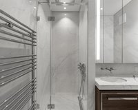 Spacious Rainshower showers in all suites