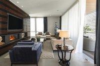 Stainless steel luxury kitchen of the Pool Penthouse Berlin-Tiergarten