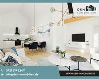 Visualisierung Wohn-, Esszimmer, Küche