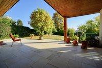 Überdachte Terrasse Haus Boden
