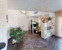 Engen-Bittelbrunn-Blick von der Küche zum Wohnzimmer