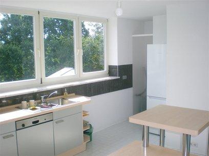 Küche mit Drachenfels Blick