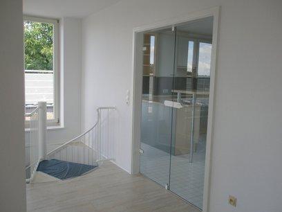 Glastüren zur Küche