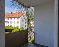 Balkon von einem Schlafzimmer