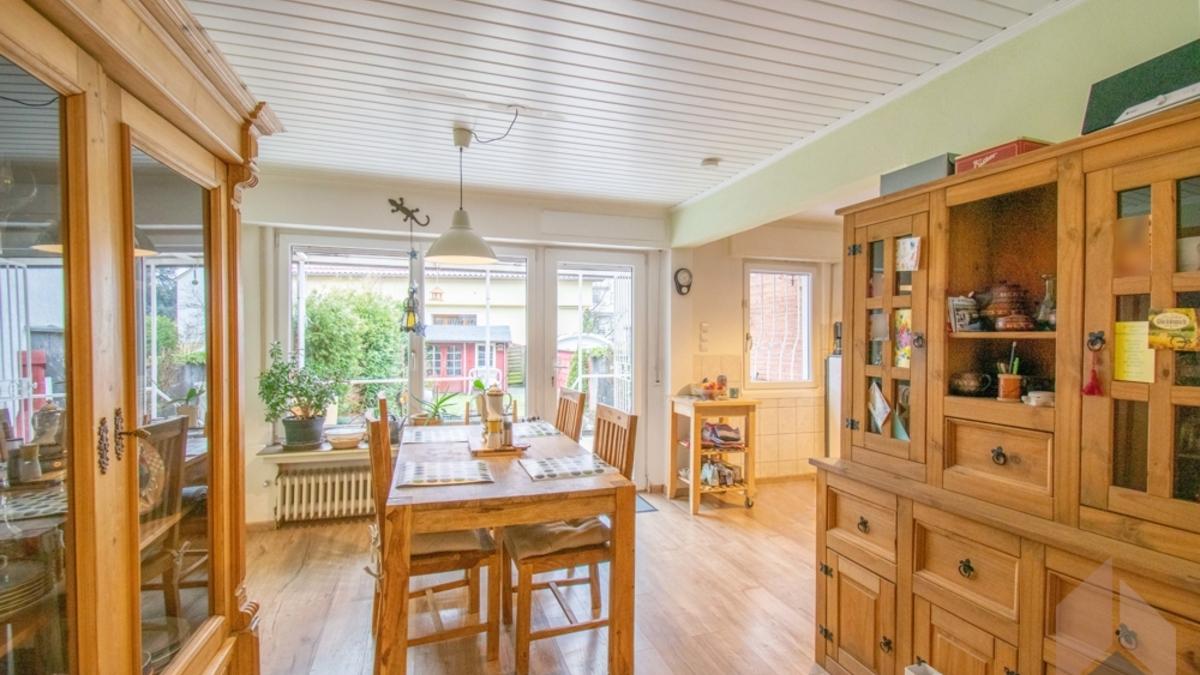 Essbereich zur offenen Küche
