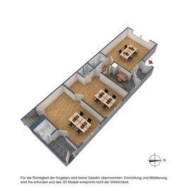 3D Grundriss EG Büro