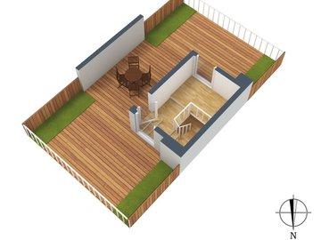3D-Grundriss, Terrasse