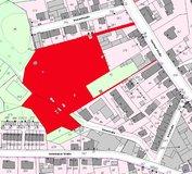 Lageplan mit Grundstücksmarkierung