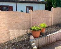 Mauer als Sichtschutz zum Nachbarn