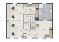 Obergeschoss (derzeit als Büro und Einl.-Wohnung genutzt)