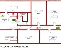 Grundrissskizze Kellergeschoss