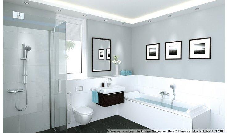 visualisiertes Badezimmer