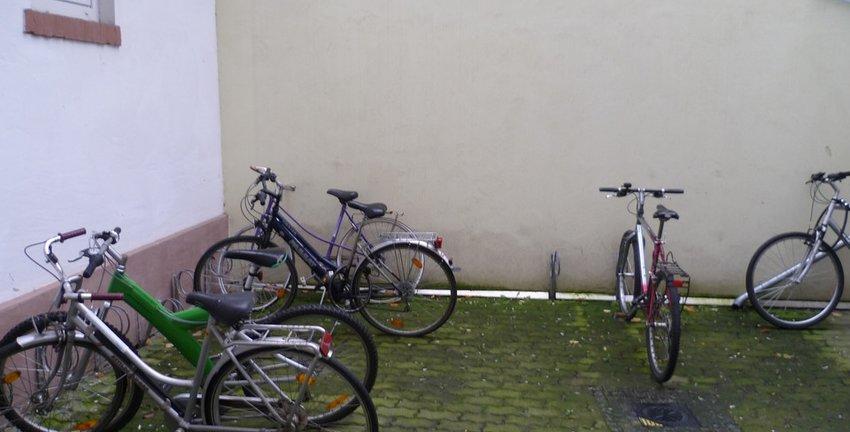 Viel Platz für Fahrräder