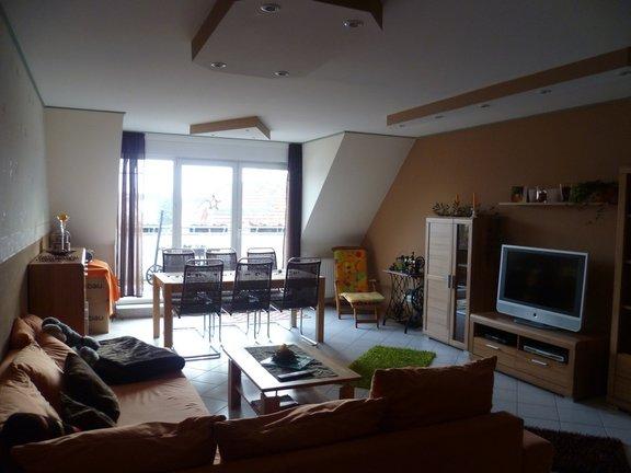 Großes Wohnzimmer mit Südbalk