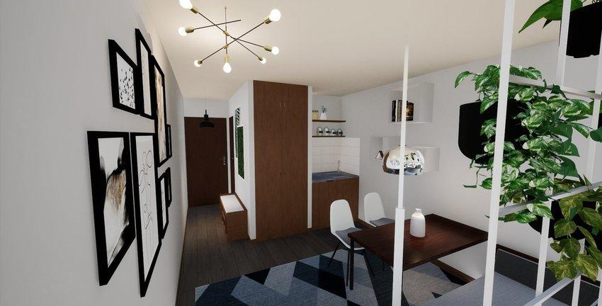 Visualisierung Wohnschlafzimm