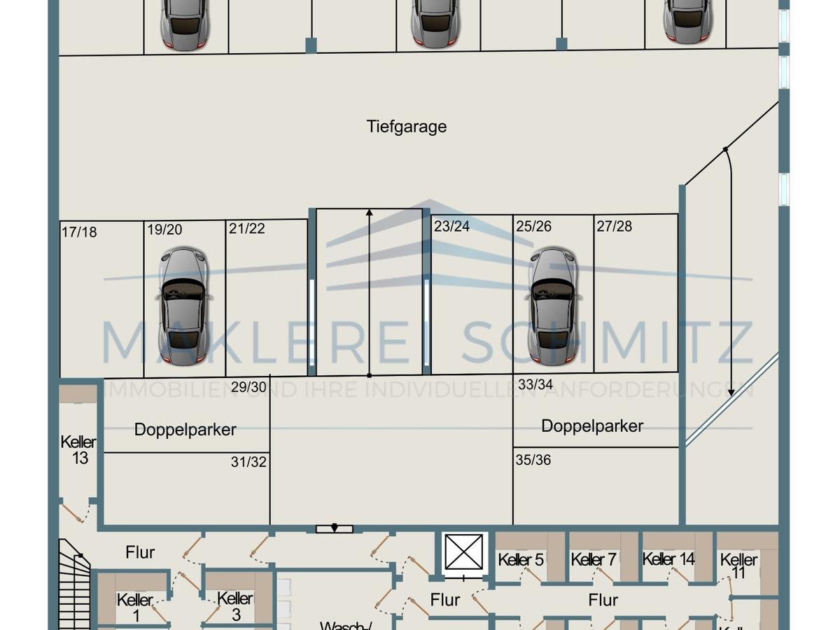 53721-10 - Grundriss Tiefgarage